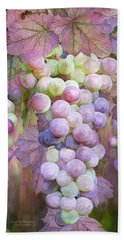 Beach Sheet featuring the mixed media Grapes Of Many Colors by Carol Cavalaris
