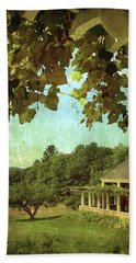 Grapes On Arbor  Beach Towel by Betty Pauwels