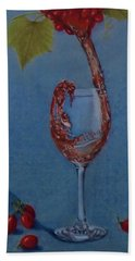 Grapes To Wine Beach Towel