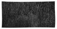 Grass Black And White Beach Towel