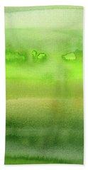 Grass Green Abstract Watercolor Beach Towel