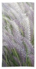 Beach Towel featuring the photograph Grass Is More - Nature In Purple And Green by Ben and Raisa Gertsberg