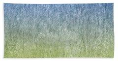 Grass On Blue And Green Beach Sheet by Glenn Gemmell