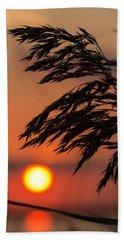 Grass Silhouette Beach Towel
