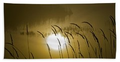 Grass Silhouettes Beach Towel