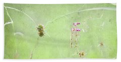 Grasses And Blooms Beach Towel