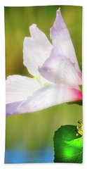 Grasshopper And Flower Beach Towel