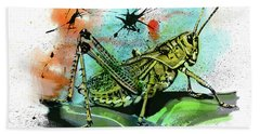 Grasshopper Beach Towel