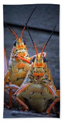 Grasshoppers In Love Beach Towel