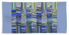 Grate Art - Blue And Green Images - Manipulated Photography Beach Towel