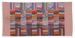 Grate Art - Earthy-tones Beach Towel by Brooks Garten Hauschild