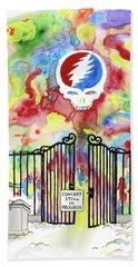 Grateful Dead Concert In Heaven Beach Towel