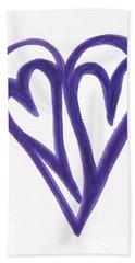Grateful Heart Thoughtful Heart Beach Towel