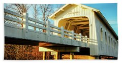 Grave Creek Covered Bridge Beach Towel