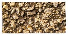 Gravel Stones On A Wall Beach Towel