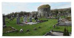 Beach Towel featuring the photograph Graveyard Antigua Iglesia De Killinaboy Ireland by Marie Leslie