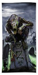Graveyard Zombie Beach Sheet
