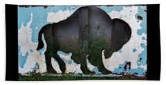 Gray Buffalo Beach Towel by Larry Campbell