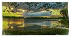 Gray Cloud Sunset Beach Towel by Tom Claud