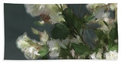 Gray Floral 09 Beach Sheet