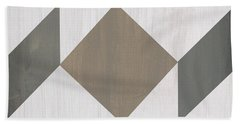 Gray Quilt Beach Towel