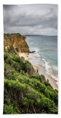 Beach Towel featuring the photograph Gray Skies by Perry Webster