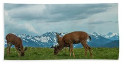 Grazing In The Clouds Beach Towel