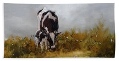 Grazing With Mom Beach Towel