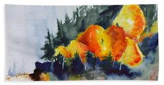 Beach Sheet featuring the painting Great Balls Of Fire by Beverley Harper Tinsley