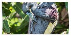 Great Blue Heron 0342 Beach Towel
