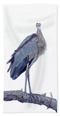 Great Blue Heron 1 Beach Towel by Lizi Beard-Ward