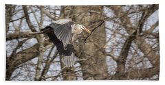 Great Blue Heron 2014-2 Beach Towel