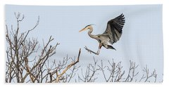 Great Blue Heron 2014-4 Beach Towel