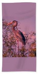 Great Blue Heron - Artistic 6 Beach Sheet