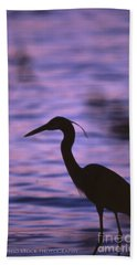 Great Blue Heron Photo Beach Sheet