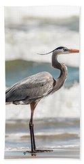 Great Blue Heron Profile Beach Towel
