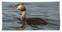 Great Crested Grebe Beach Towel