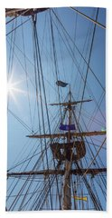 Beach Sheet featuring the photograph Great Day To Sail A Tall Ship by Dale Kincaid