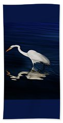 Great Egret-self Reflections Beach Towel