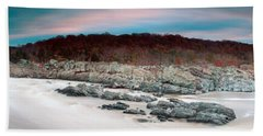 Great Falls Apres Sandy Beach Towel by Edward Kreis