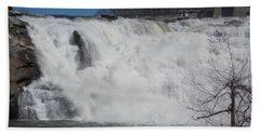 Great Falls In Canaan Beach Towel by Catherine Gagne
