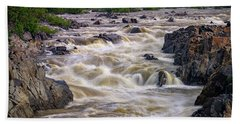 Great Falls Of The Potomac River Beach Towel