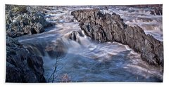 Beach Towel featuring the photograph Great Falls Virginia by Suzanne Stout