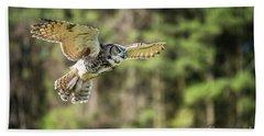 Great Horned Owl-2366 Beach Towel