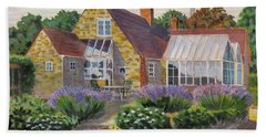 Great Houghton Cottage Beach Towel by David Gilmore