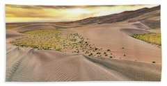 Beach Sheet featuring the photograph Great Sand Dunes Sunset - Colorado - Landscape by Jason Politte