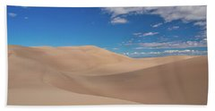 Great Sand Dunes Under A Blue Sky Beach Towel