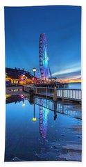 Beach Towel featuring the photograph Great Seattle Wheel by Evgeny Vasenev