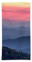 Great Smoky Mountain Sunset Beach Sheet by Teri Virbickis