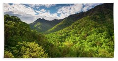 Great Smoky Mountains Gatlinburg Tn Spring Scenic Landscape Beach Sheet